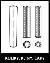 Kolíky kliny čapy