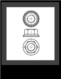 DIN 6923 s ozubením